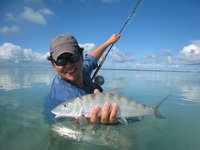 Bonefishing and wading the flats of Providenciales Turks and Caicos Islands