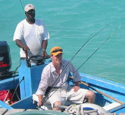 Fisherman Dave and bonefish guide