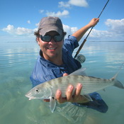 Bonefishing article on flyfishing on the flats of Proidenciales Turks and Caicos Islands