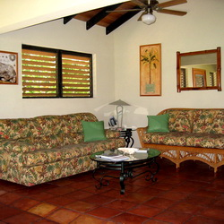 Sofa bed for extra guests in our rental villas