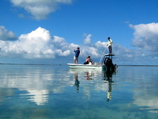 Bonefishing the flats of Providenciales Turks and Caicos Islands